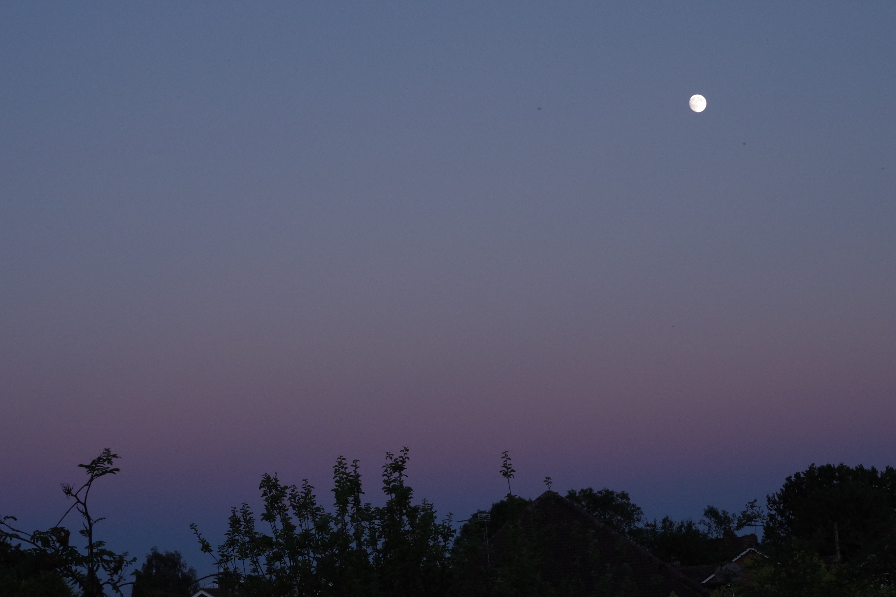 Sky at Dusk With Moon